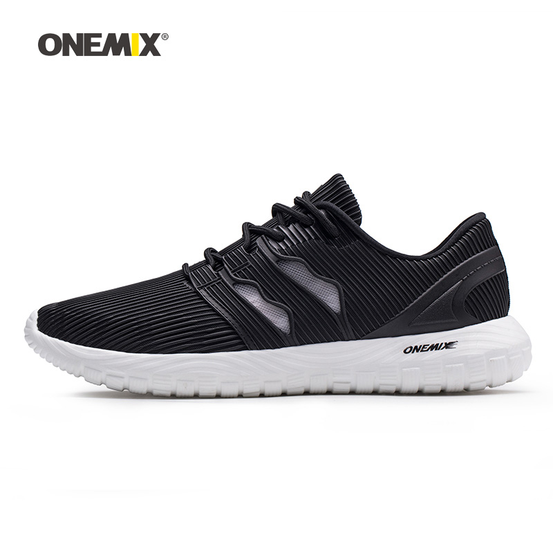 Onemix Men Running Shoes for Women Black Air Breathable Designer Gym Trail Jogging Sneakers Outdoor Sport
