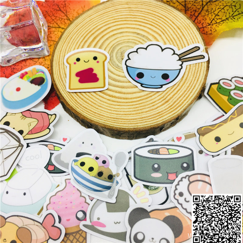 40 Pcs Cartoon Cuisine Stickers For Car Motorcycle Phone Book Travel Luggage Kids Toys Funny Decoration Sticker Bomb Decals