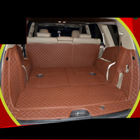fiber leather car trunk mat for kia mohave 2009 2010 2011 2012 2013 2014 2015 2016 2017 2018 kia Borrego car accessories