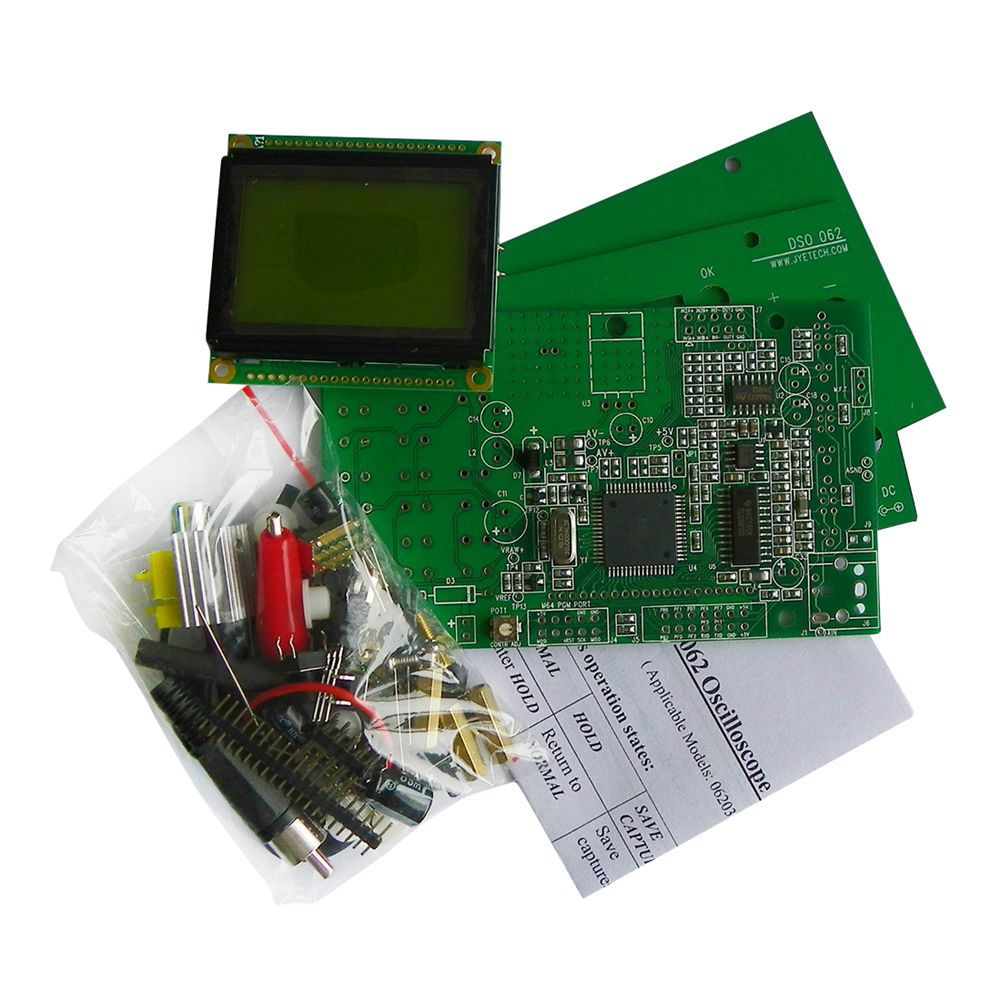 THGS DSO062 Digital Oscilloscope 1 MHz Analog Bandwidth 20 MSa/s DIY Kit for Arduino r3 high quality diy digital oscilloscope for arduino kit electronic learning kit educational for kids and children new arrival