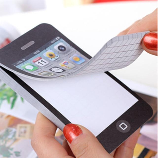 50 Páginas Almofadas de Memorando Kawaii Escritório Criativo Fornece Iphone Conveniente Planejador de Papel Adesivo Marcadores Sticky Note Post It Sticker
