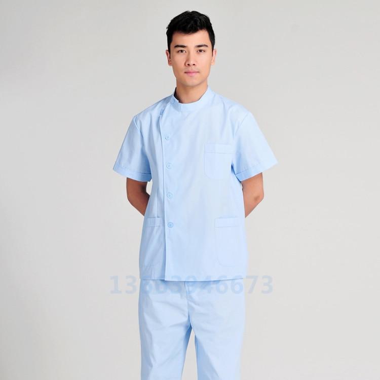 Men\'s summer short sleeved split dental dental ophthalmic surgical ...