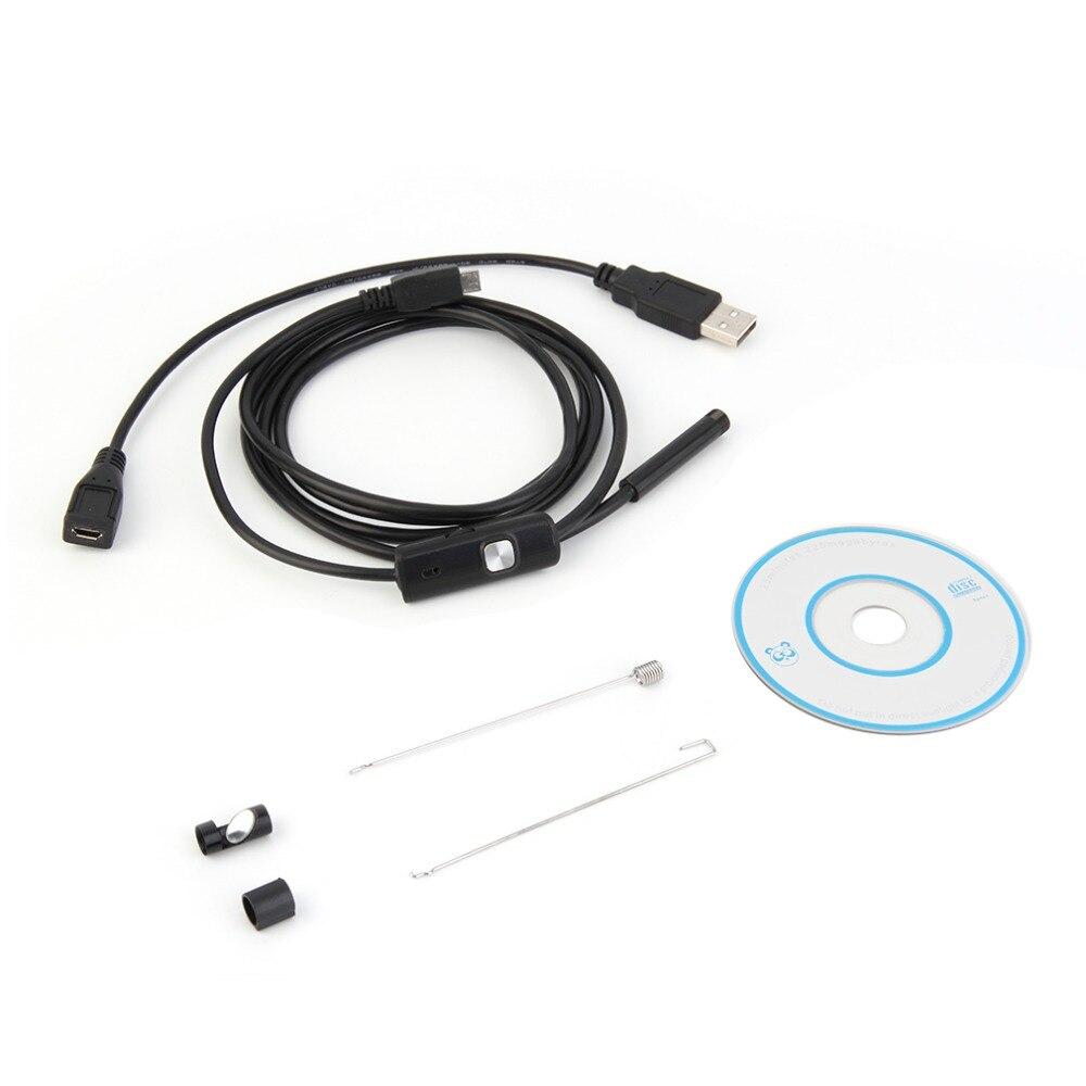1,5 Mt/7mm objektiv Starre Kabel USB Inspection Mini-kamera Tube Snake IP67 Wasserdichte Endoskop mit LED Endoskop für Android-Handy