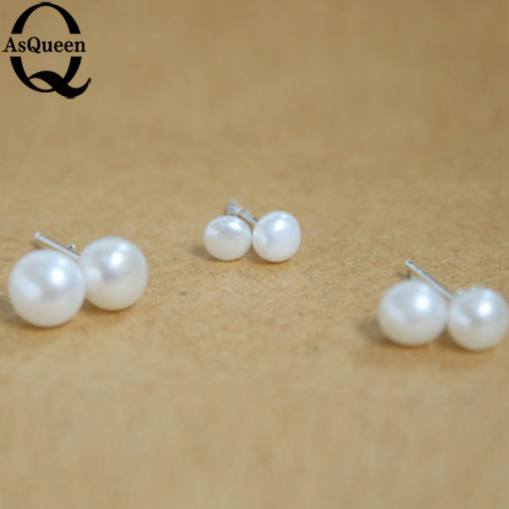 tiny stud earring pin cartilage double piercing barbell pearl side