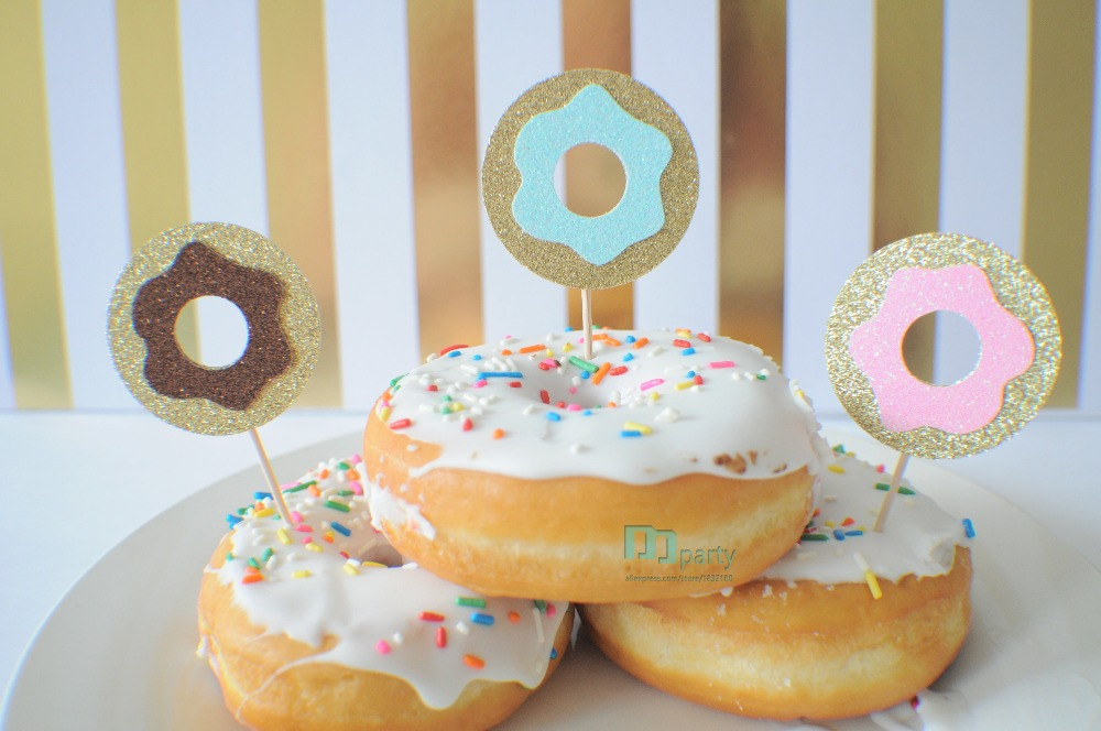 Donut cupcake topper, Donut grow up cupcake topper, Donut ...