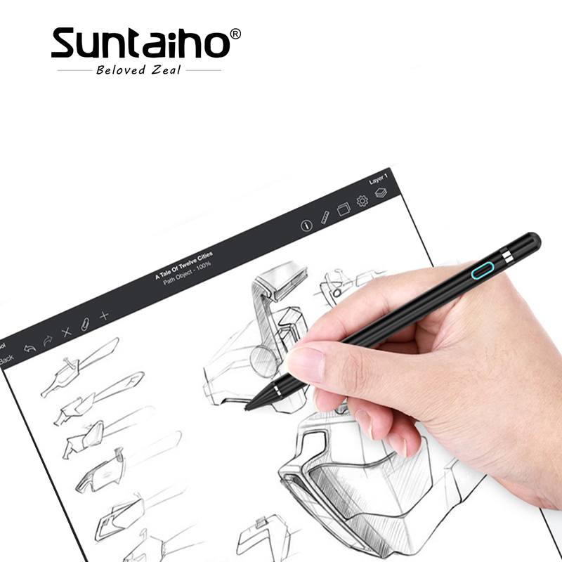Suntaiho Tablet Pen for apple pencil new stylus capacitance touch Pencil For Apple iPad Pro for iPad 9.7 (2017) for iPad 1 2 3 apple mk0c2zm a pencil для ipad pro white