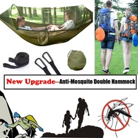 Double Portable Lightweight Camping Hammock With Mosquito Net for Backpacking Camping Travel Beach Yard