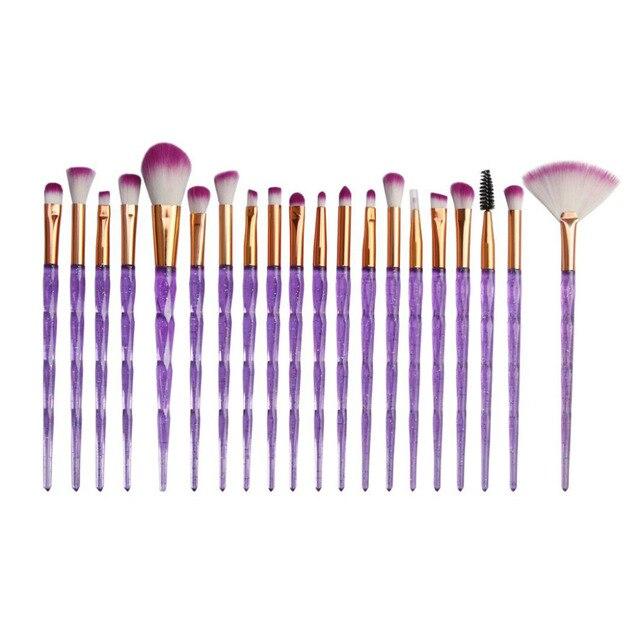 MAANGE Gorgeous Shining Series 20 PCS Make Up Foundation Eyebrow Eyeliner Blush Cosmetic Concealer Brushes Beauty Holder Kit