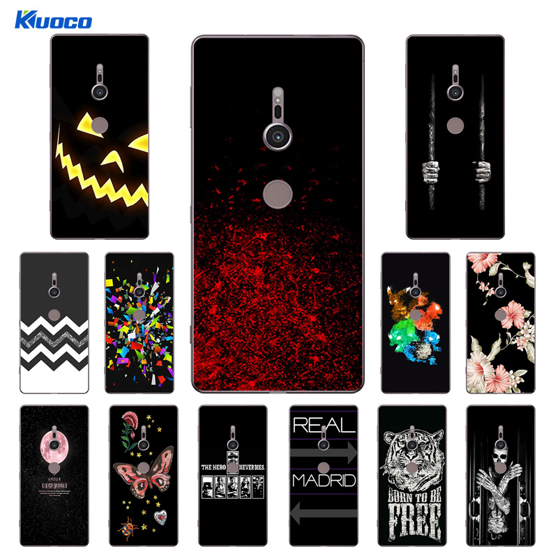 5.7 inch for Fundas Sony Xperia XZ2 Clear TPU Soft Phone Cases Character Printing Ultrathin Cover for Sony H8216 H8266 H8296