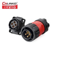 Cnlinko Circular Electrical Automotive Male Plug Female Jack Power Connector 4pin Led Strip Light Waterproof IP65