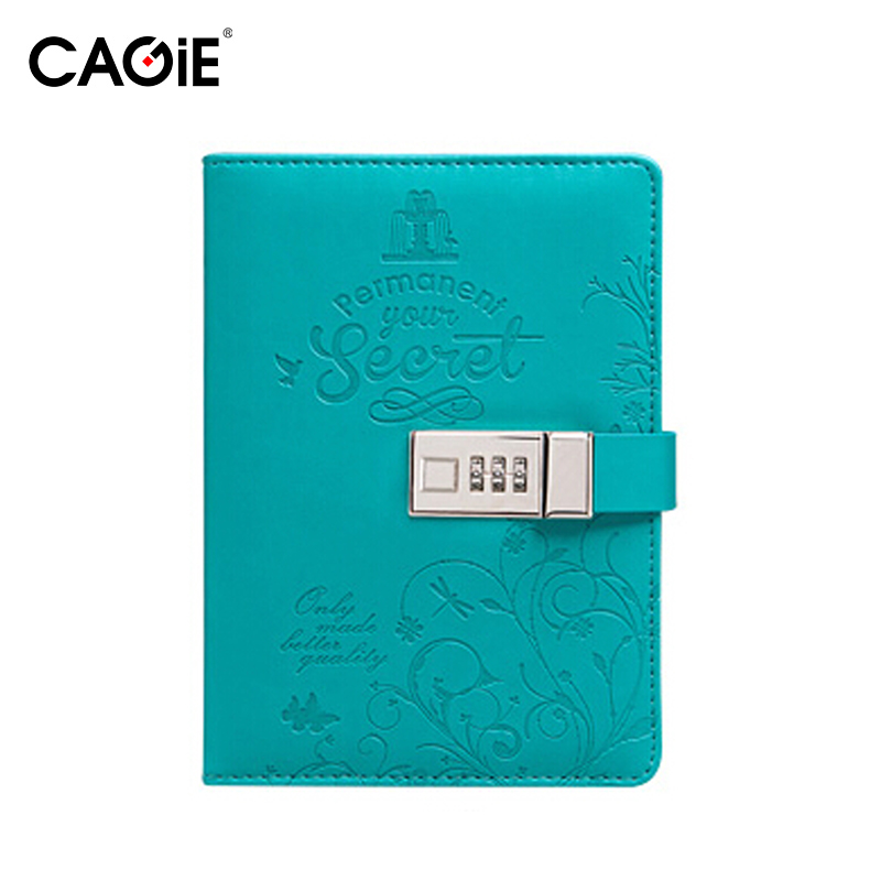 CAGIE 2016 New Cute Diary With Lock Pu Leather Composition ...