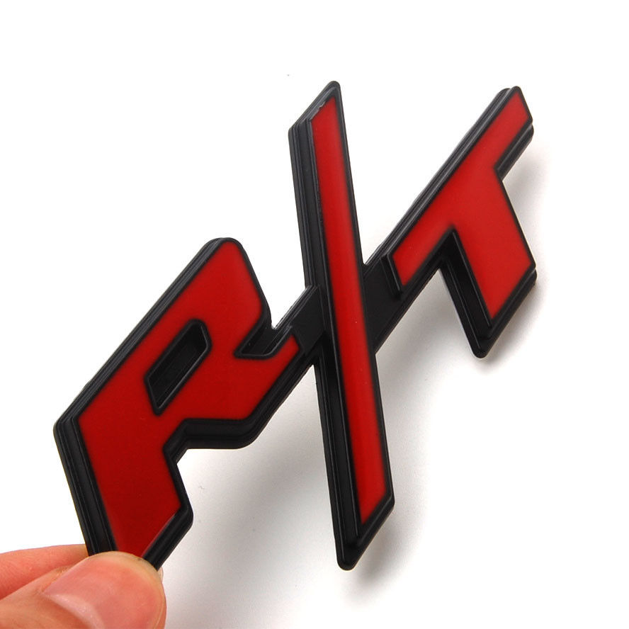 Red R/T RT Metal Alloy Emblem Trunk Badge Decal Sticker Fit for Dodge Charger Challenger Car Styling Car Stickers red r t rt metal alloy emblem trunk badge decal sticker fit for dodge charger challenger car styling car stickers