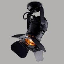 E27 lámpara de Base de arte del hierro ajustable, lámpara de techo Vintage profesional, 4 hojas, accesorios, lámpara Industrial, Iluminación comercial de tienda