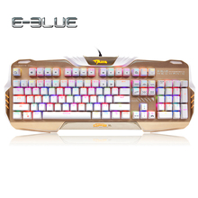 E-3LUE K729 Gaming Keyboard RGB Backlit Blue/Black Switch Colorful LED adapt working and gaming Full N-key rollover Keyboard