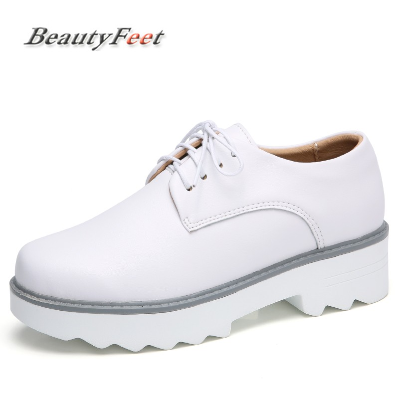 BeautyFeet Genuine Leather Oxford Shoes Women Flats Fashion Women Shoes Casual Moccasins Loafers Ladies Shoes Zapatos Mujer new black martin shoes fashion spring women shoes flats casual oxford shoes female obuv zapatos mujer