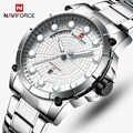 Nuevos relojes de marca de lujo para hombres, relojes deportivos NAVIFORCE para hombres, reloj militar resistente al agua de cuarzo y acero para hombres, reloj Masculino