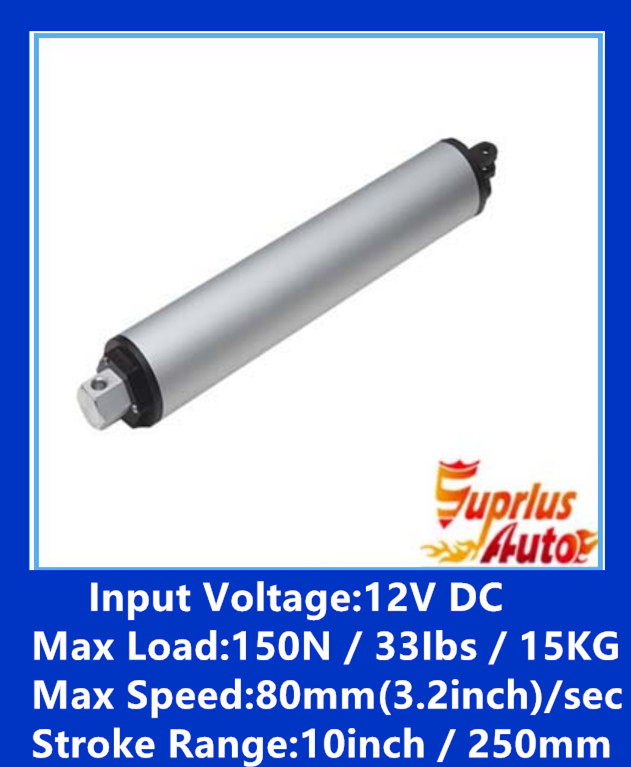 High-speed linear actuators -12V DC 250MM / 10 inch stroke 80mm / s linear motor -1PC motor linear actuators high quality guideway toothed laser machine belt drive rail high speed bed electric dc unit slider