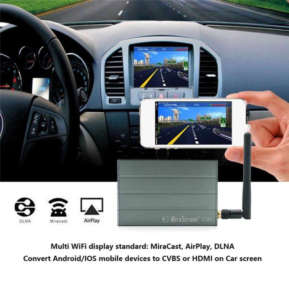 MiraScreen Car C1 WiFi Multimedia Display Dongle Mirror HD Box Airplay Miracast DLNA GPS Navigation Car For Phone Tablet Pad TV