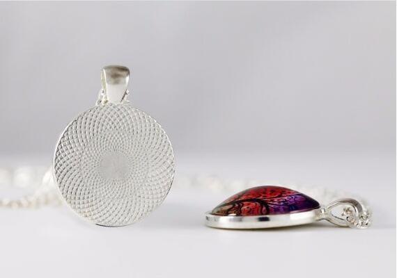 SUTEYI Vintage Glass Dome Necklace Buddhism Chakra Glass Cabochon Pendant Jewelry Om India Yoga Mandala Necklaces For Unisex 3