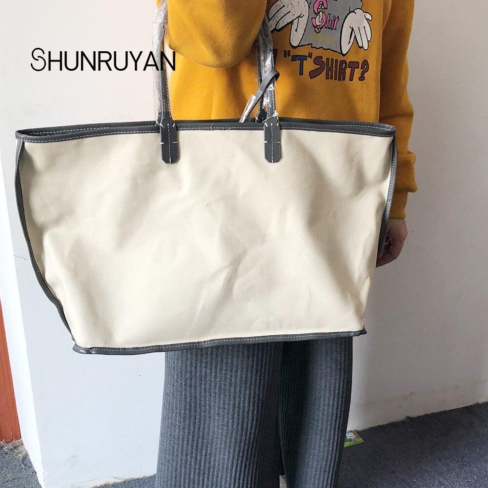 SHUNRUYAN Nouvelle PU sacs à main pour femme Sac sac à bandoulière Femme décontracté Fourre-Tout Femmes sac de messager Ensemble - 3