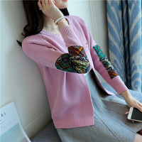 Women fashion long sleeve knitted open cardigans Girls casual short style outwears with brooch decoration