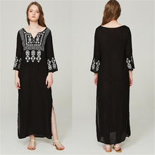 Beach Dress Pareo Summer Sexy Cover Up Tunic And Dresses Swimsuit Woman For New Black Cotton Embroidered Skirt Shirt Animal