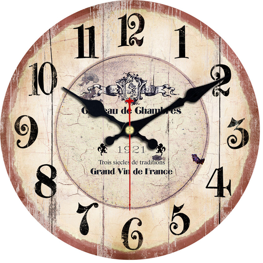 WONZOM Classic Reloj Large Wall Clock Crown Design Fashion Silent Living Room Wall Decor Saat Home Decoration Watch Wall Gift