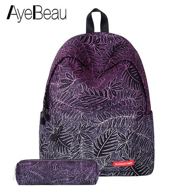 a7b823fcbf Portfolio School Bag Teen Printing Backpack With Print Female Women  Feminina For Kid Girls Teenagers Schoolbag Bagpack Back Pack