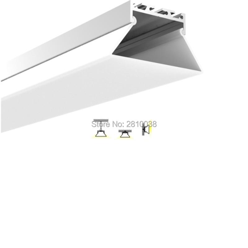 forma de extrusao de aluminio quadrado levou lampadas conjuntos 10x2 03