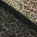 2018 New 3mm Sequin Leopard Animal Print Sequin Fabric Telas Tecido by Yard