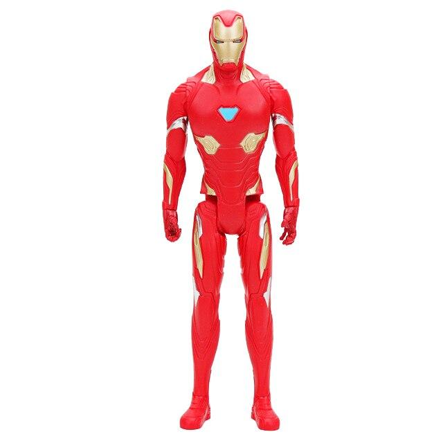 30 см Marvel Мстители игрушки танос Халк Бастер человек паук Железный человек Капитан Америка Тор Росомаха Черная пантера фигурка куклы - Цвет: 1iranman no box
