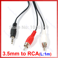 """3.5mm Jack To 2 RCA Audio Adapter Cable for Ipod MP3 1m"
