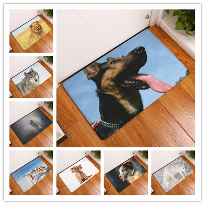 New Doormat Carpets Leopard Likelife Dog Print Mats Floor Kitchen Bathroom Rugs 40X60or50x80cm