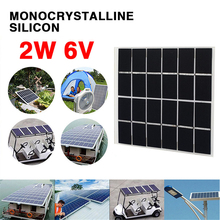 amzdeal 6V 2W Solar Panel 22% efficiency Monocrystalline Silicon DIY Battery Power Charge Module 120x110mm Solar Cell