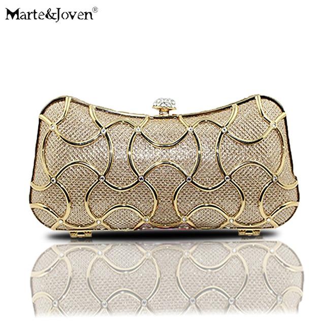 179ac492e [Marte & Joven] El más nuevo diseño de bolsas de noche doradas Clutch mujer