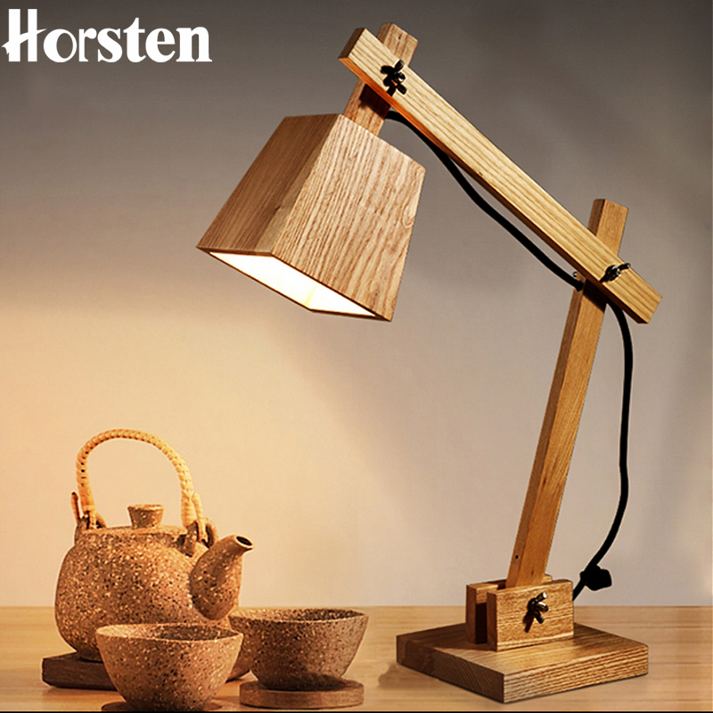 horsten creative art deco wooden table lamp desk lamp modern industrial wood table lamp study light