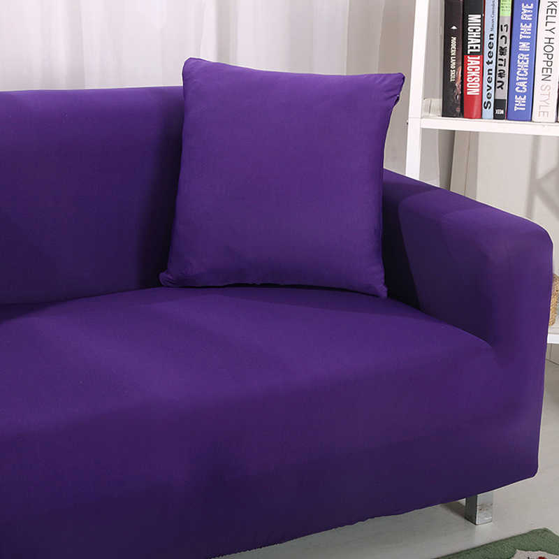 PORSIA 6 色カバー固体ソファカバータオル 1/2/3/4-Seater 家具プロテクターカバー 100% ポリエステルソファカバー
