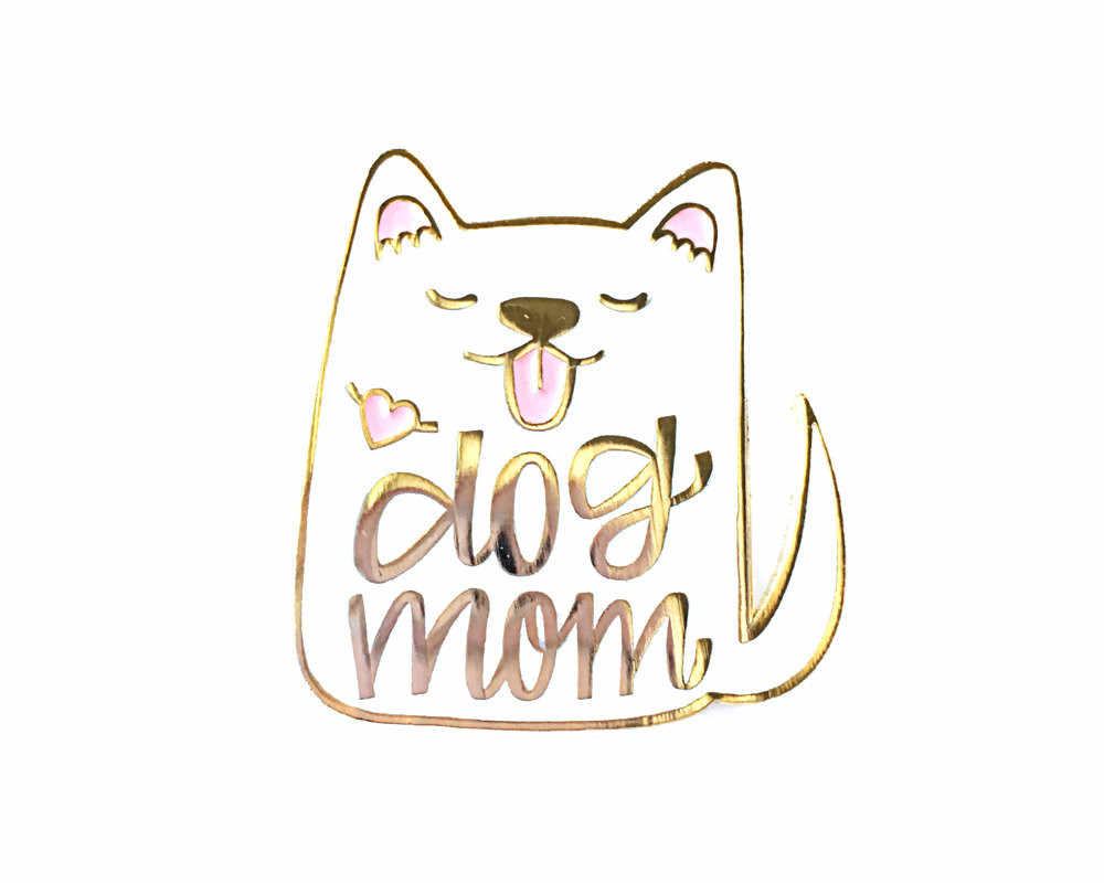 619099d77a9c Detail Feedback Questions about Dog Mom Enamel Pin White Mother Day ...