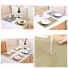 kitchen 4pcsset new exquisite pvc texlin placemats tapete vinyl place mats for table heat