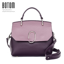 Botom Latest Women's Handbags Fashion Genuine Leather Shoulder Bag Real Leather Luxury Designer Ladies Cross Body Messenger Bag