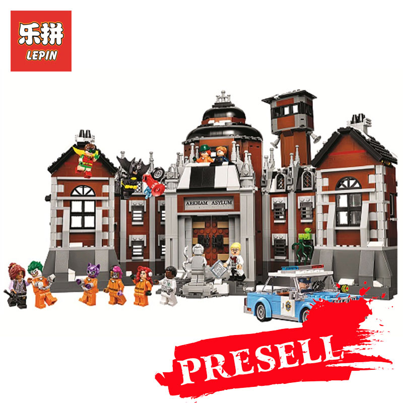 Lepin 07055 1628Pcs Genuine Batman Movie Series Arkham Asylum Building Blocks Bricks Toys Model with 70912 for Children gifts a toy a dream new decool 7124 genuine series marvel batman movie arkham asylum building blocks bricks toys with