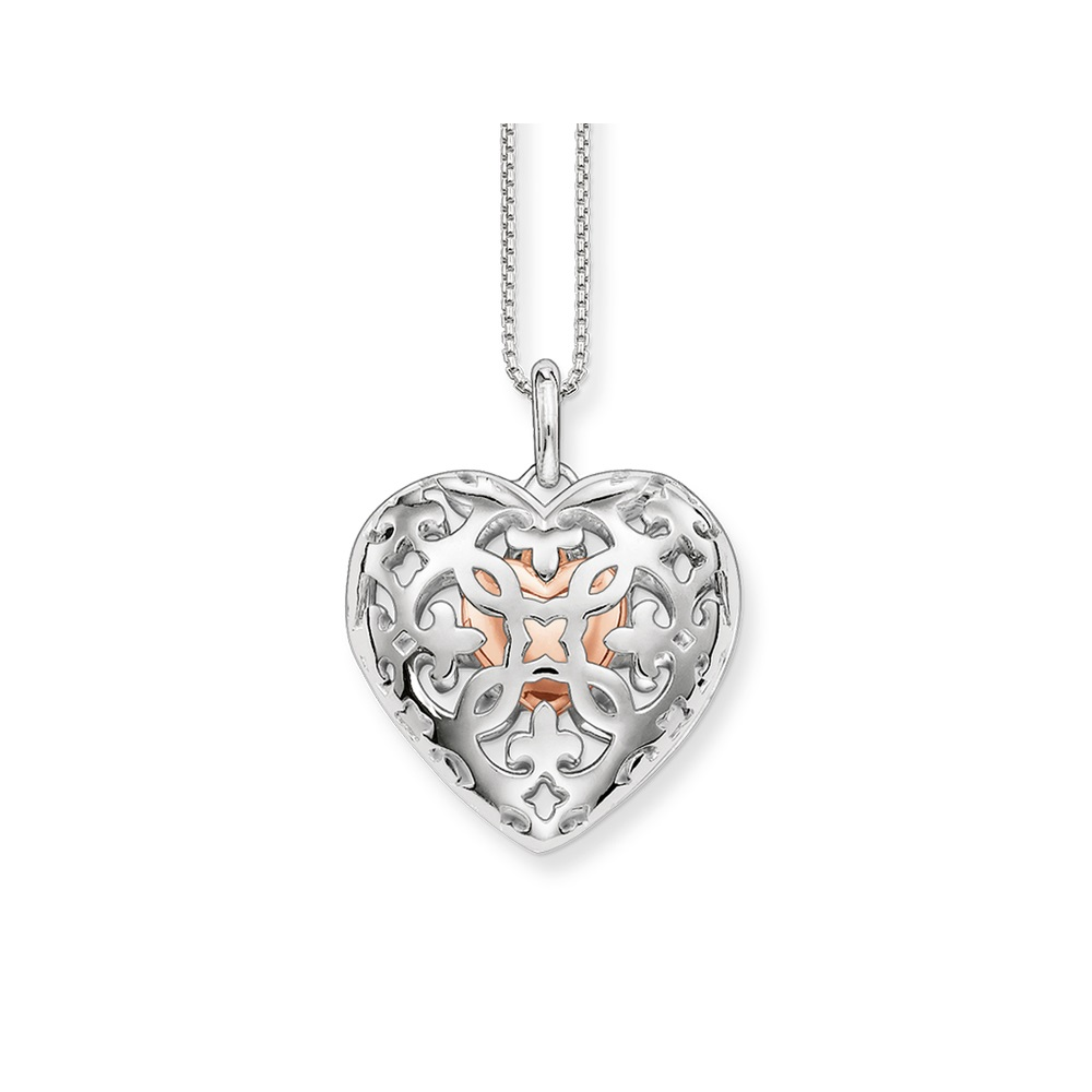 Silver Link Chain Openable Hollow Heart Locket Medallion Necklaces & Pendants 2018 New Trendy Pendant Necklace Jewelry for Women locket
