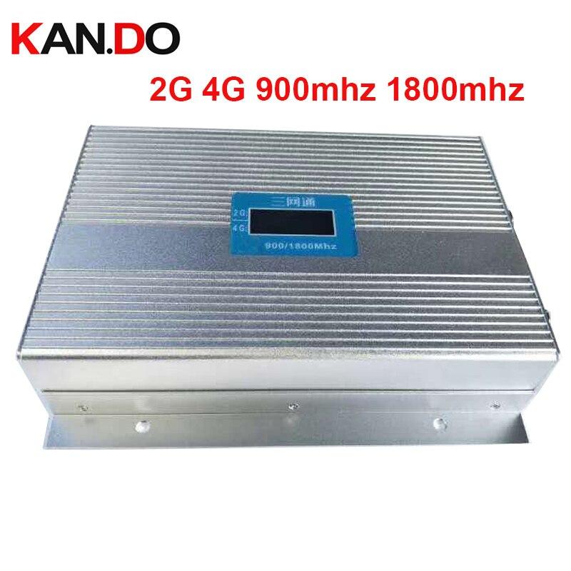 Gain d'affichage LCD 85dbi 3 W GSM 900 + DCS 1800 MHZ double bande BOOSTER 2G 4G répéteur 4G LTE booster dcs répéteur de SIGNAL gsm