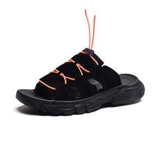 Мужские тапочки; летние пляжные шлепанцы; Мужская обувь; мужские повседневные сандалии на плоской подошве; Мужская обувь; плотные Нескользящие Вьетнамки с открытым носком