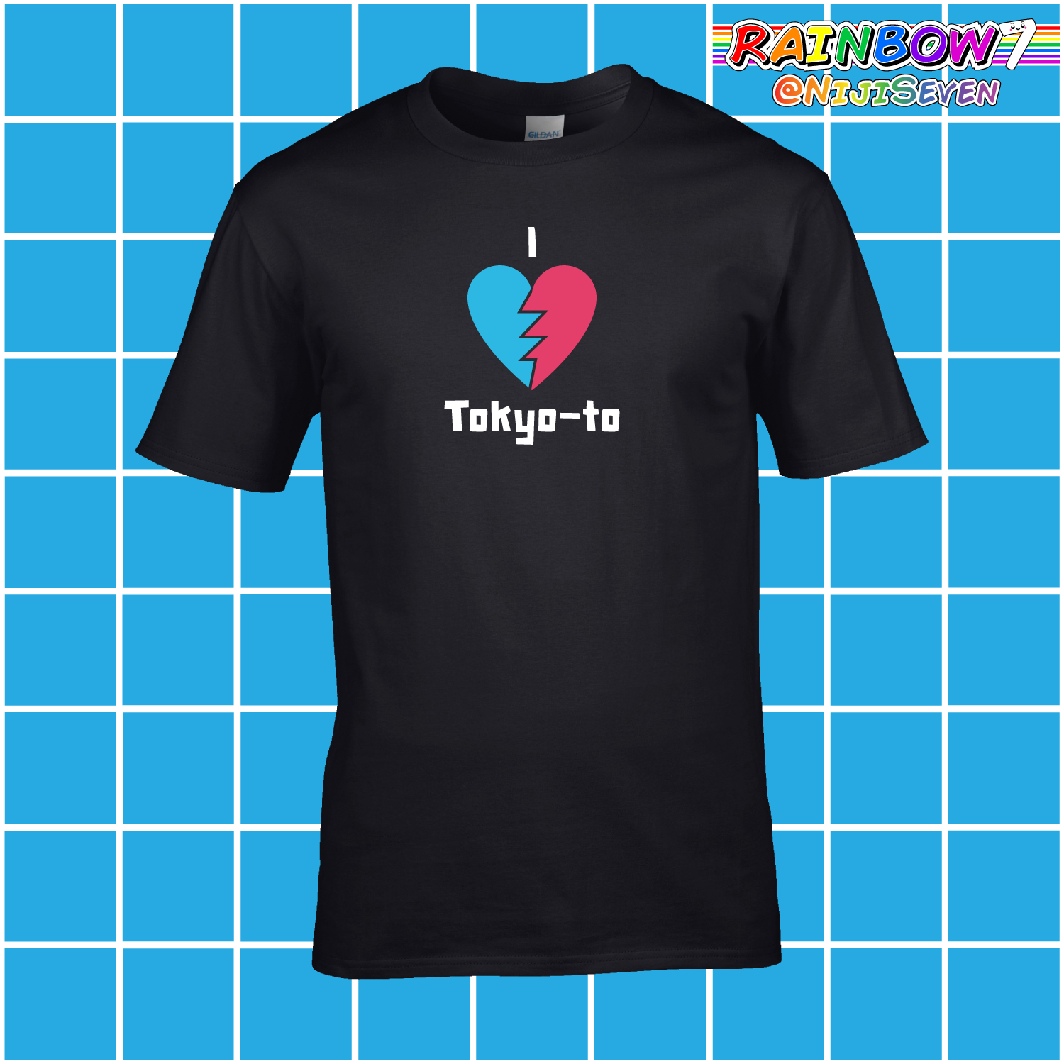 ADULT - PREMIUM - I Heart Tokyo-to Inspired by Jet Set Radio - Videogame T Shirt