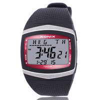 World Multiple Time Zone Digital Watch Men 100 M Water Resistant Complete Calendar Watch Fashion Sports