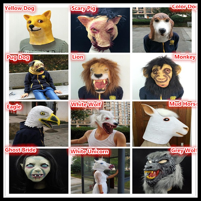 Lubber Lion Halloween Latex Animal Head Mask for Costume Party