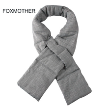 FOXMOTHER 2019 New Styles Brand Ladies Winter Fashion Black White Plaid Houndstooth Scarf Stuff Wrap Down Scarves Foulard Women