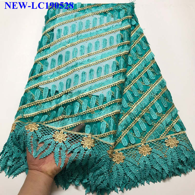 African Lace Fabric 2019 Rhinestones Nigerian Laces Fabric Bridal High Quality French Tulle Lace Fabric For