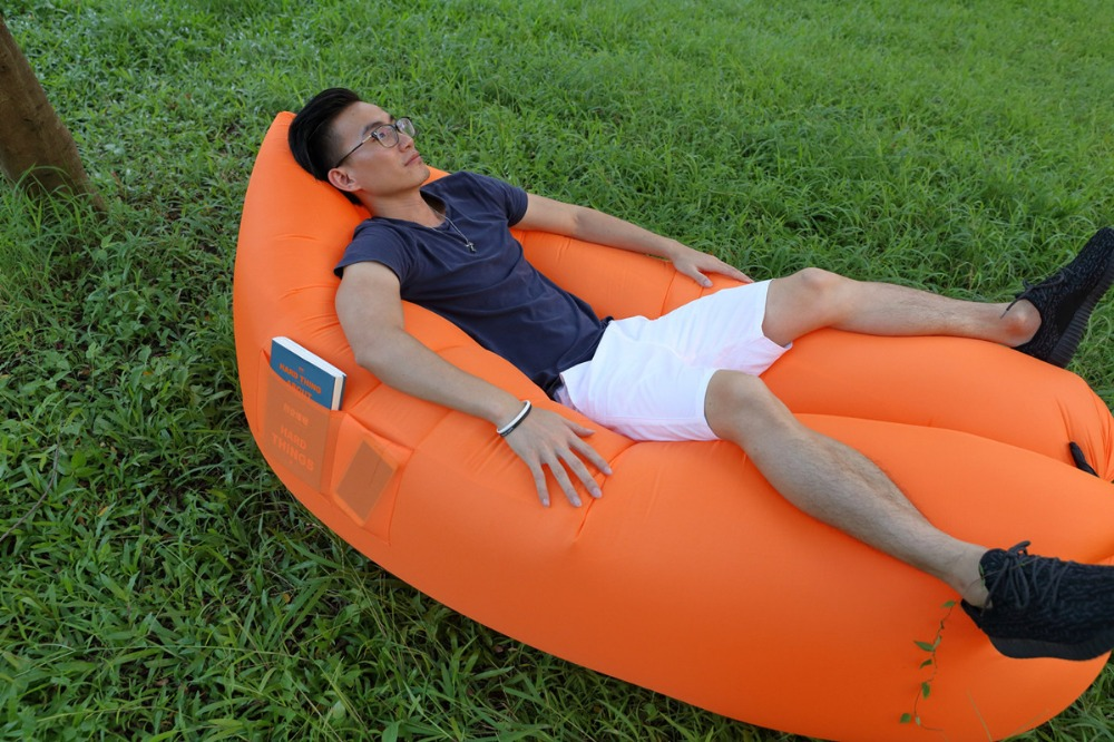 POCKETS HOLDING DESIGN Instant Air Bean Bag, Outdoor Waterproof Beanbag , 3  Season Type And ...